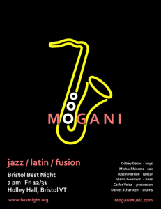 Mogani live New Year's Eve at Bristol Best Night