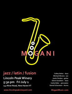 Mogani at Lincoln Peak Winery, July 1