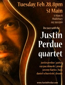 Justin Perdue Quartet - live at 51 Main, 2/28/12